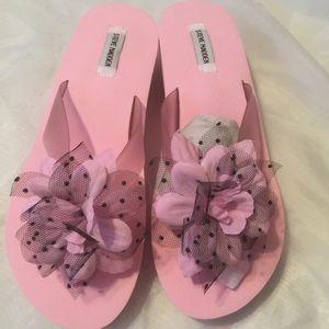 NEW!! Steve Madden sandals w/ cute flower Sz 10